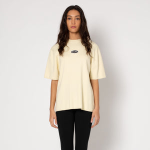 HUF Simple Short Sleeve Crew Sweatshirt  Womens Sweater Ivory