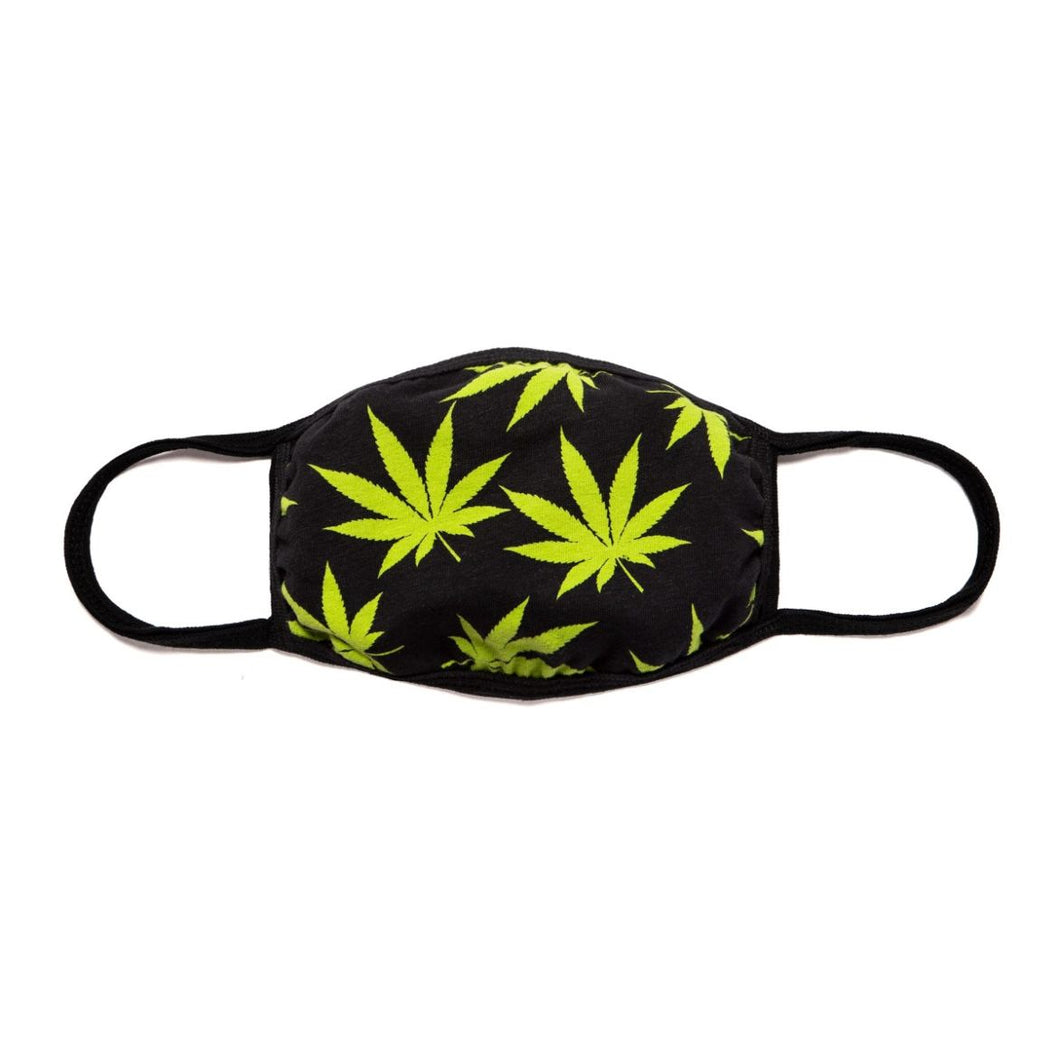 HUF Plantlife Face Mask Black
