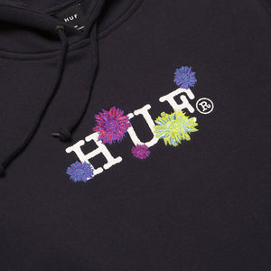 Huf Psycho Daisies Pullover Hoodie French Navy