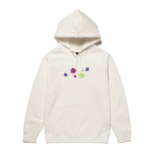 Huf Psycho Daisies Pullover Hoodie Unbleached