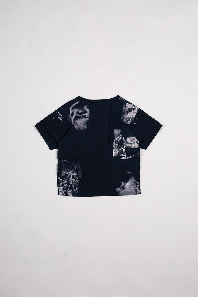 DIY Patchwork T-Shirt Washed Black