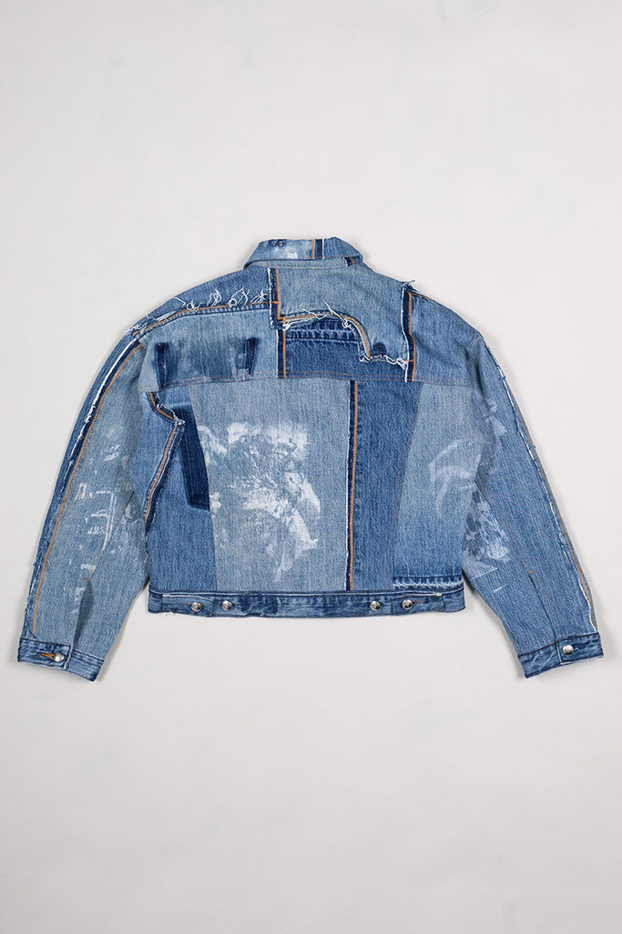 DIY Patchwork Denim Jacket