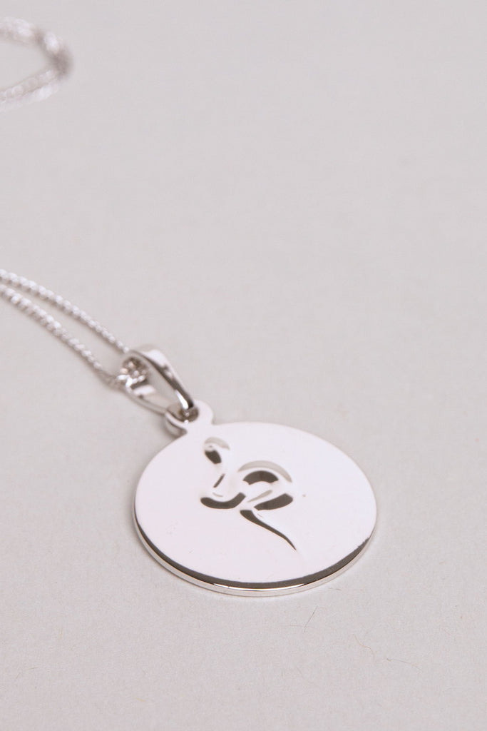 Snake Coin Necklace II Silver