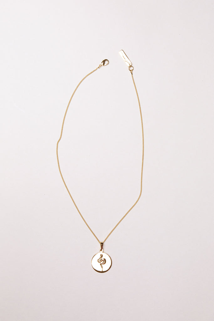 Snake Coin Necklace II Gold