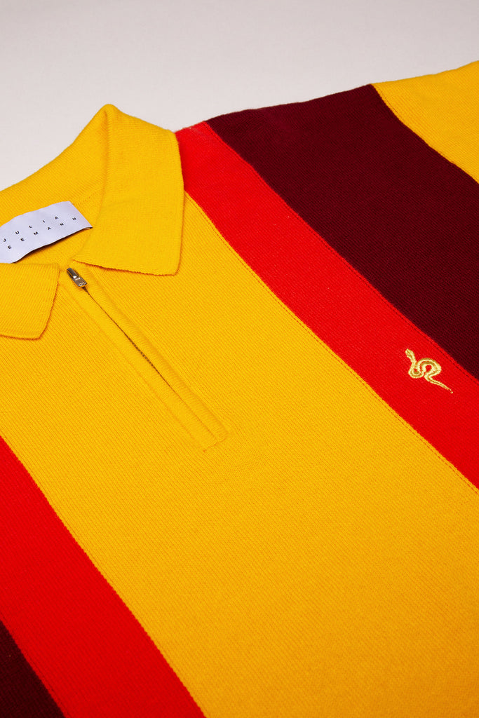 Snake Knit Polo Yellow