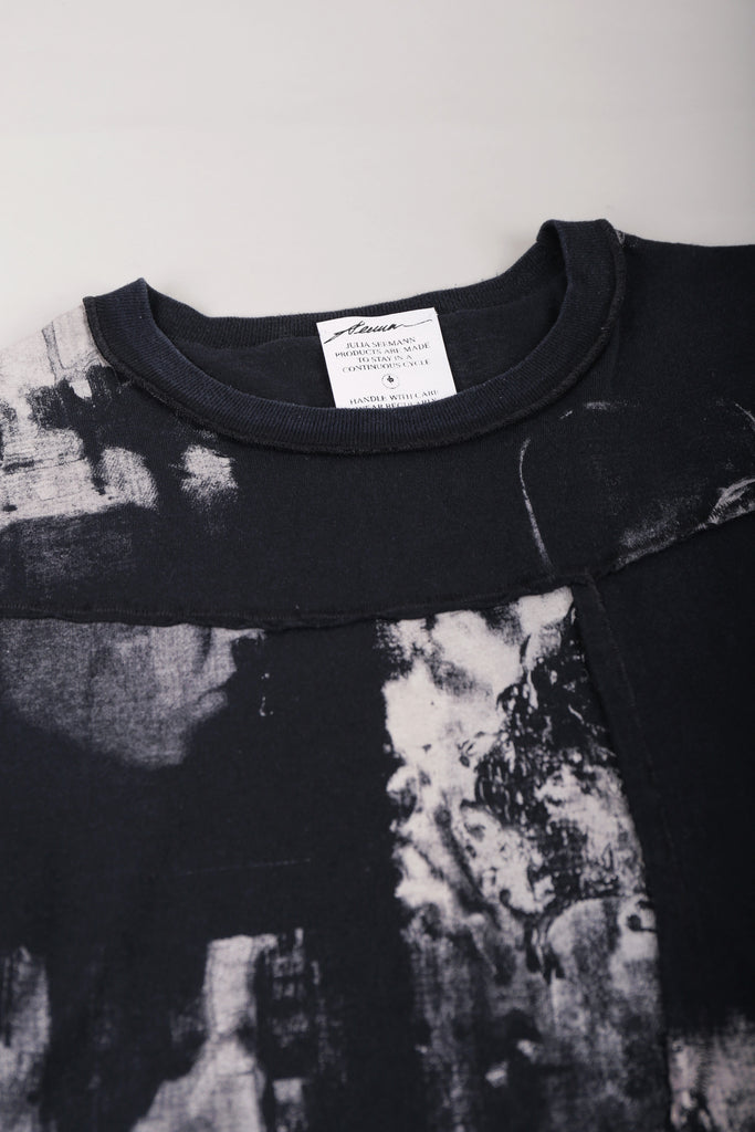 DIY Patchwork T-Shirt Washed Black II