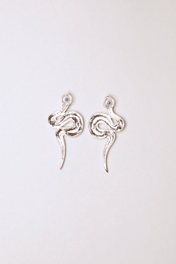 Snake Earrings Silver