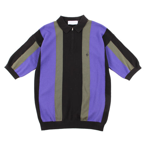 Snake Knit Polo Purple