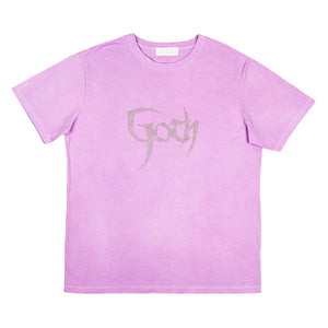 Goth T-Shirt Washed Purple