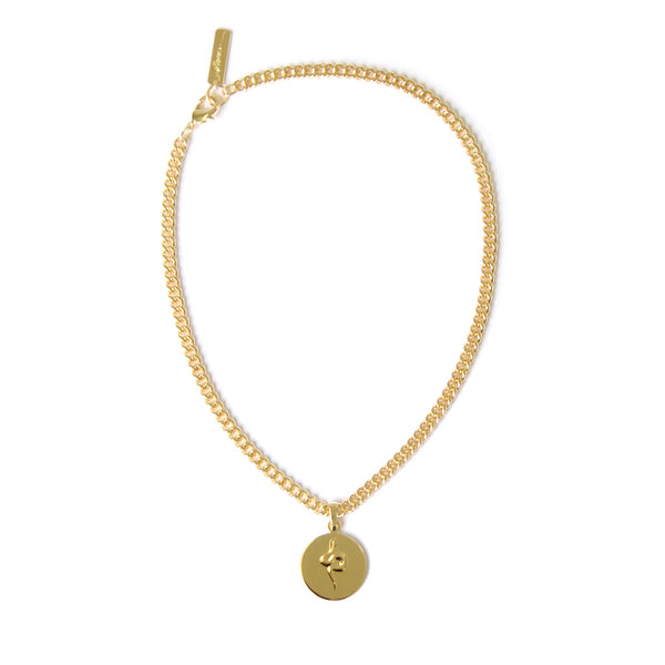 Snake Coin Necklace Gold