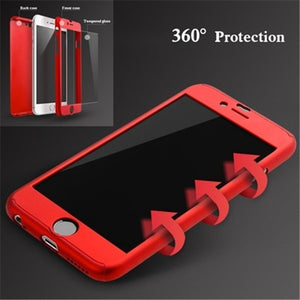 Tempered Glass + Ακρυλική Θήκη για iPhone 7/7 Plus/6/6 Plus/8/8 Plus/X