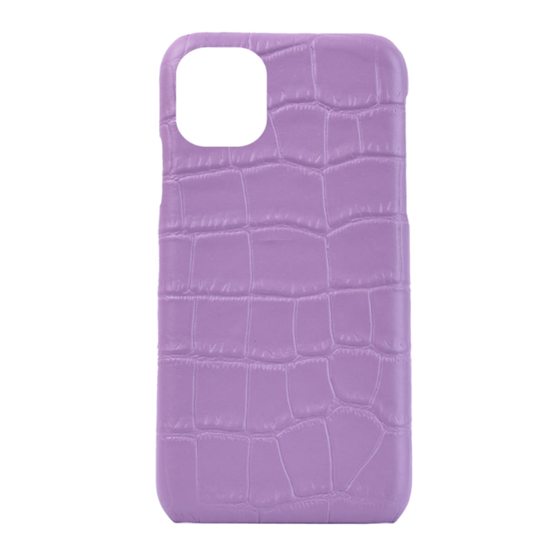 iPhone 11 Personalised Leather Case - Lilac