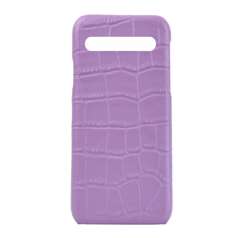Samsung S10 Personalised Leather Case -  Lilac