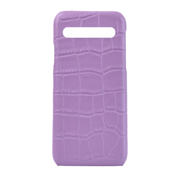 Samsung S10 Plus Personalised Leather Case - Lilac
