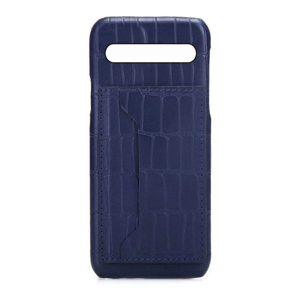 Samsung S10 Plus Personalised Leather Case With Card Holder - Blue Nile