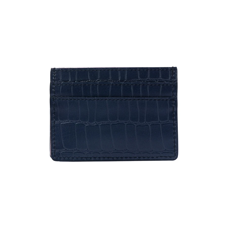 Personalised Leather Card Holder Wallet - Blue Nile