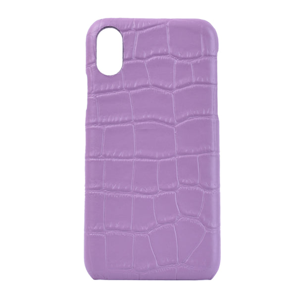 iPhone X/XS Personalised Leather Case - Lilac