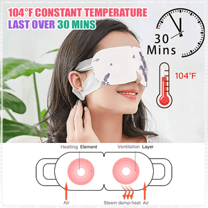 Nutrispot™ Lavender Gentle Steam Eye Mask ( 10 Pcs )