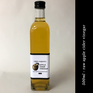 Elgin Organics Apple Cider Vinegar - 500ml glass bottle