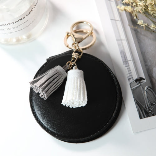 Leather Tassel Double-sided Mirror