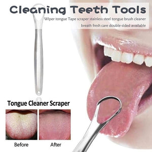 Stainless Steel Tongue Cleaner/Scraper
