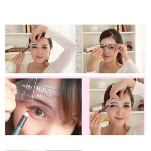 Eyebrow Stencil Template Tools 24 in 1