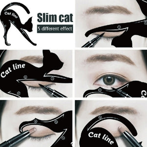 Cat Eyebrow Stencil
