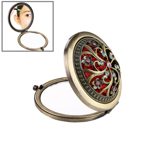 Round Foldable Make-up Mirror Retro Style