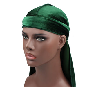Long-tailed Velvet Turban Cap