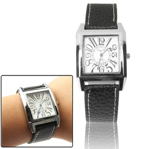Synthetic Leather Strap Wrist Watch