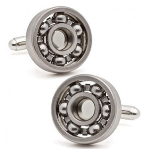 Round Cufflinks with Rotatable Bearing