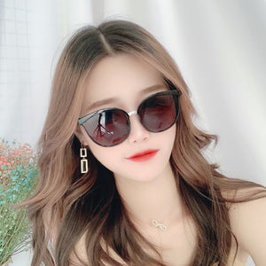 Cat Eye Color Lens Sunglasses