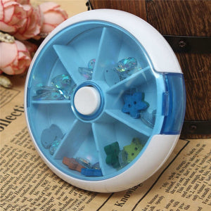 Portable Round Pill Box 2 PCS