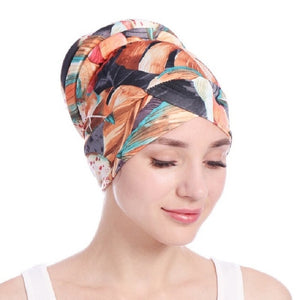 Floral Turban Hat Cotton Plate
