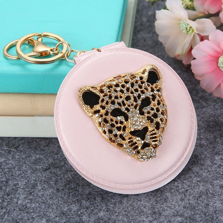 Leopard Head Foldable Make-up Mirror