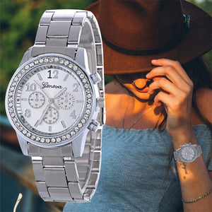 Diamond Round Shape Stainless Steel Strap