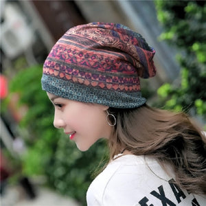 National Style Cotton Wrap Cap