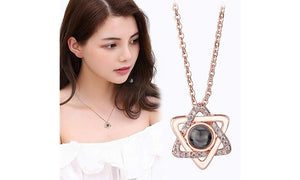 Projective Girl Six Pointed Star Pendant Necklace Jewelry