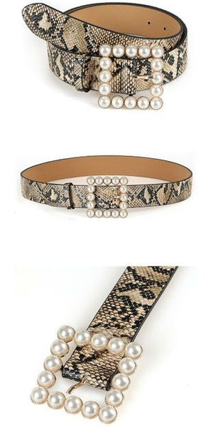 Serpent and Pearl Waistband