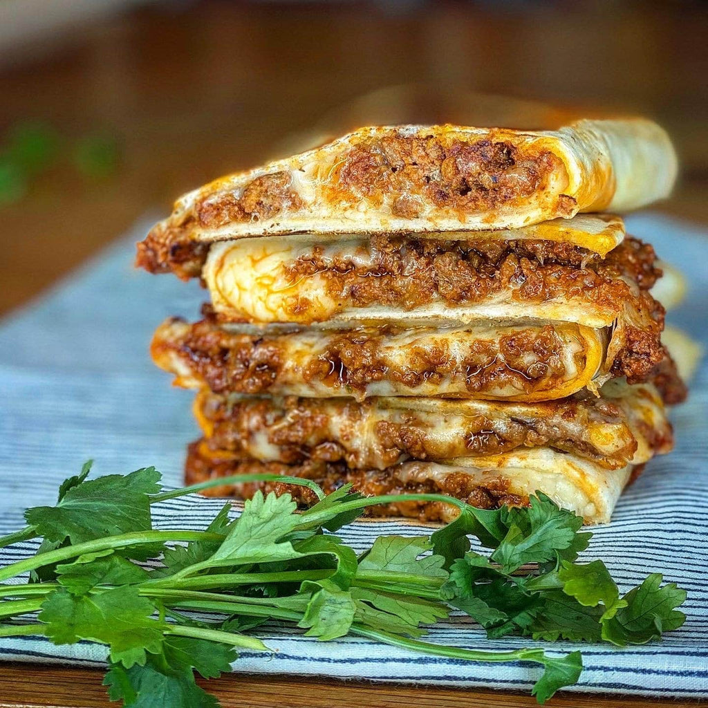 Cheesy Ground Beef Quesadilla