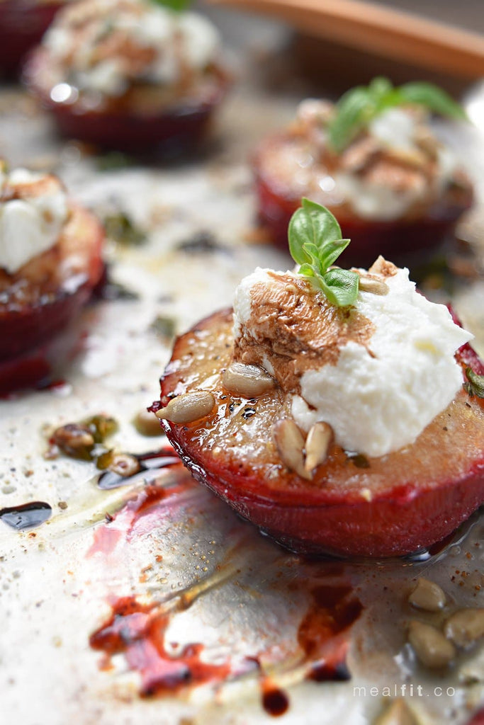 Fall Recipe: Plum Goat Cheese Bites