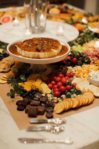Baked Brie, grazing table
