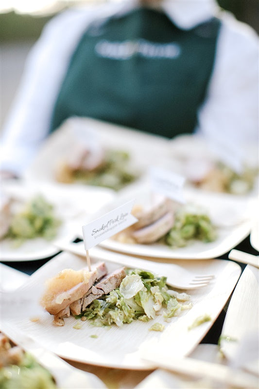 pork loin and brussel sprouts wedding meal