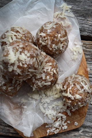 coconut energy bites table and thyme