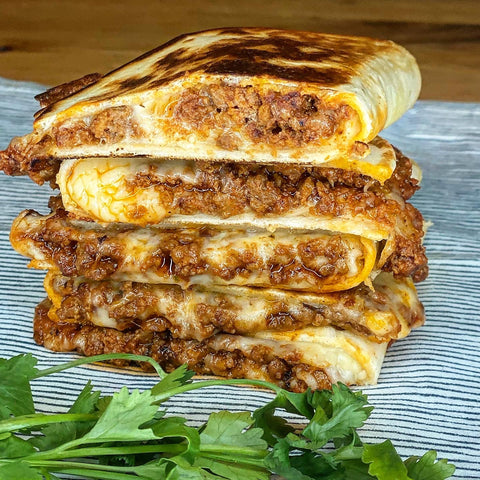 cheesy beef quesadilla table and thyme