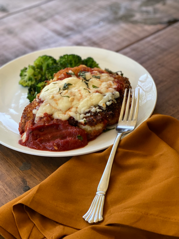 chicken parmesan table and thyme