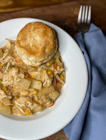chicken pot pie table and thyme
