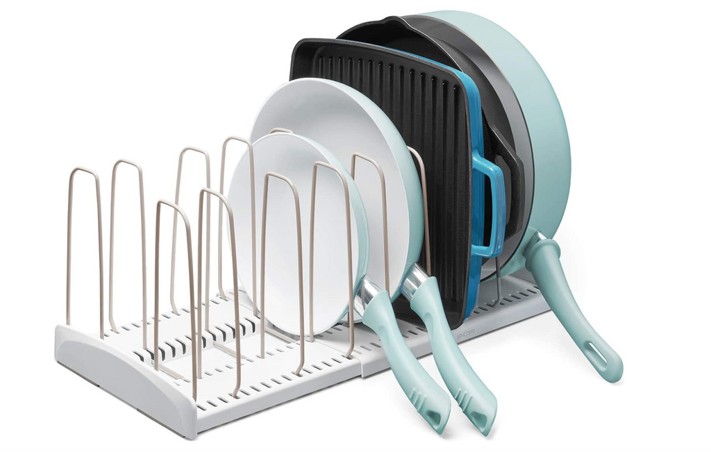 adjustable pot lid and pan rack