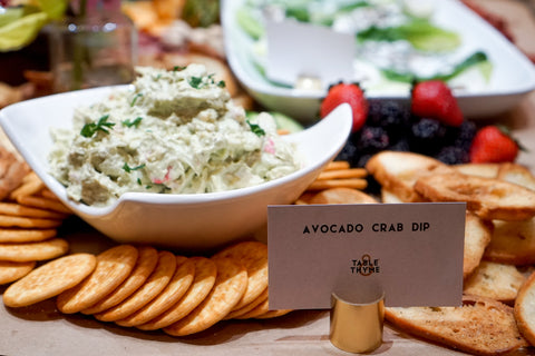avocado crab dip table and thyme carolyn wade