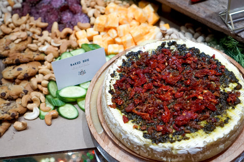 Sun-dried tomato baked brie Table and Thyme